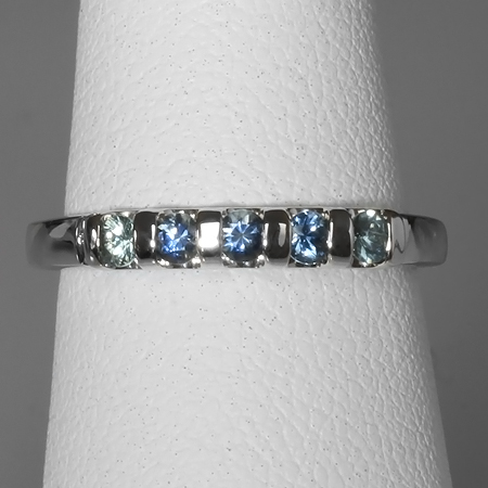 Blue Montana Sapphire 14kt Gold Stacking Band