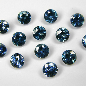 4.0mm Round Dark Greenish-Blue Montana Sapphire