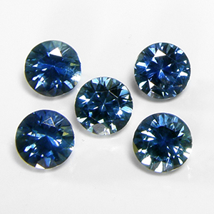 5.5mm Round Dark Greenish-Blue Montana Sapphire