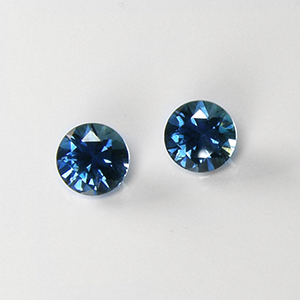 6.0mm Round Dark Greenish-Blue Montana Sapphire