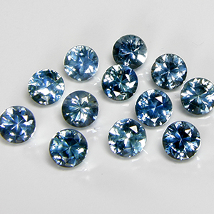 4.0mm Round Light Greenish-Blue Montana Sapphire