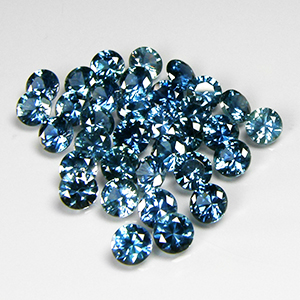 4.0mm Round Medium Greenish-Blue Montana Sapphire