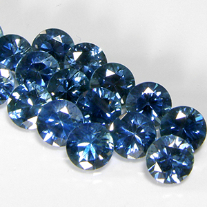 5.0mm Round Dark Greenish-Blue Montana Sapphire
