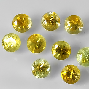 3.5mm Round Medium Yellow Montana Sapphire